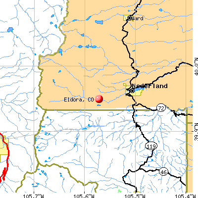 Eldora, CO map