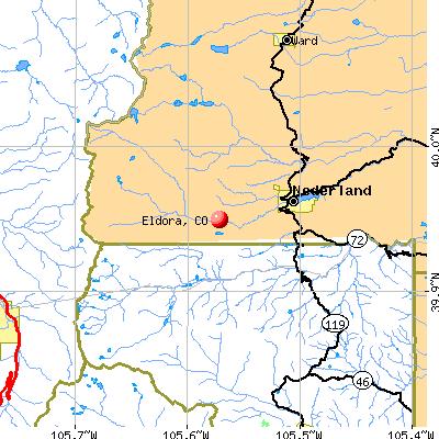 Eldora, CO map
