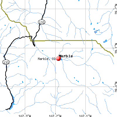 Marble, CO map