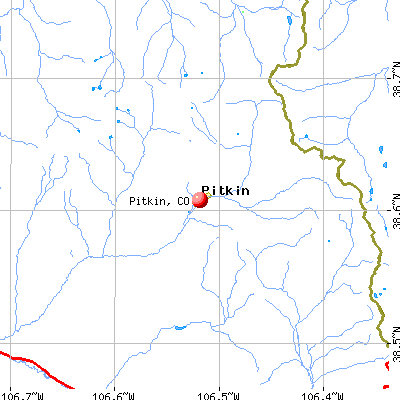 Pitkin, CO map
