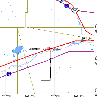 Sedgwick, CO map