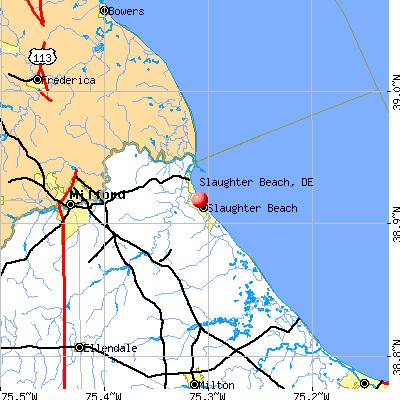 Slaughter Beach, DE map