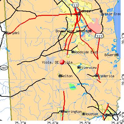 Viola, DE map