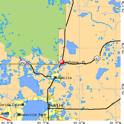 Altoona, FL map