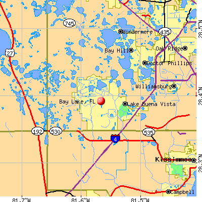 Bay Lake, FL map