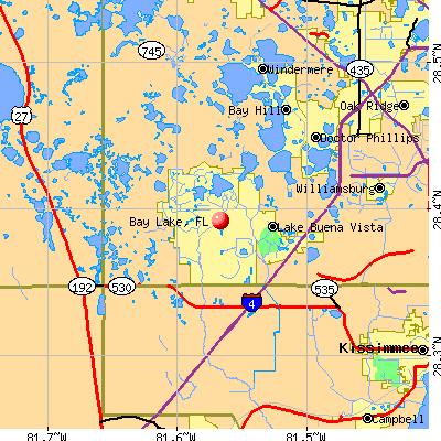 Bay Lake, FL map