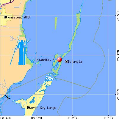 Islandia, FL map