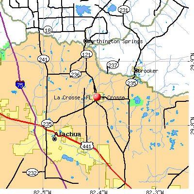 La Crosse, FL map