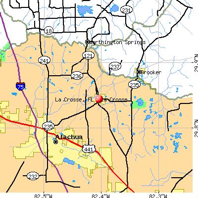 La Crosse, FL map
