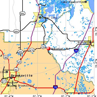 Nobleton, FL map