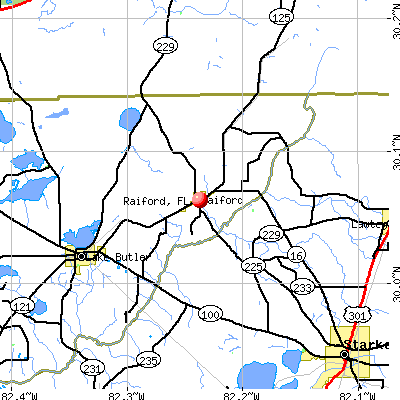 Raiford, FL map
