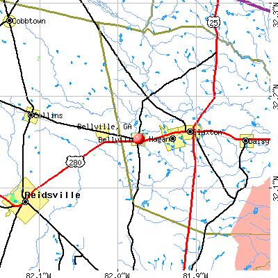 Bellville, GA map
