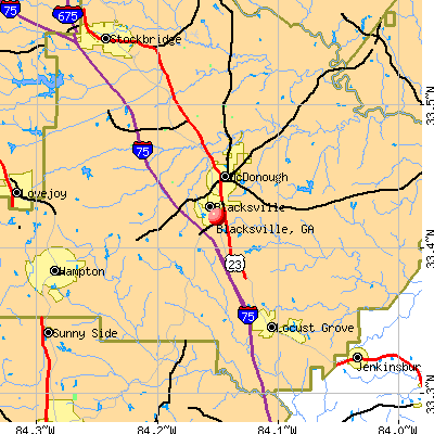 Blacksville, GA map