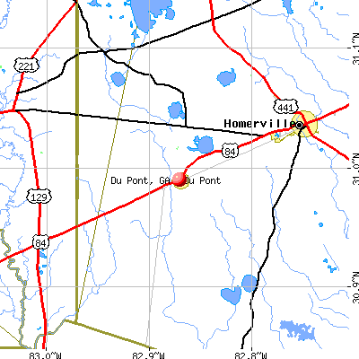 Du Pont, GA map