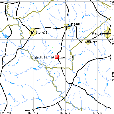 Edge Hill, GA map
