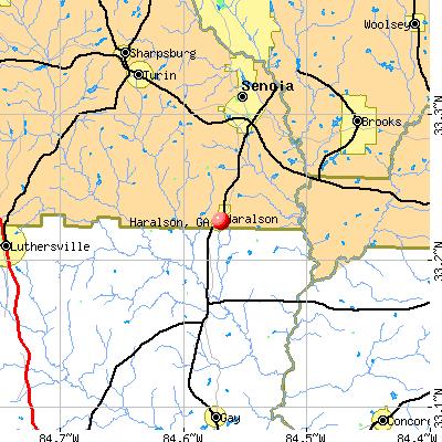 Haralson, GA map
