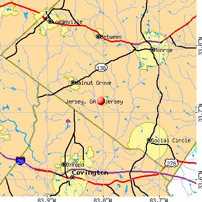 Jersey, GA map
