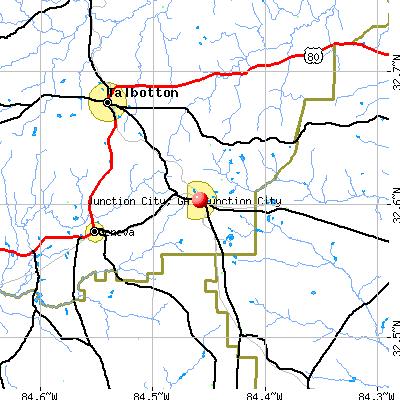Junction City, GA map