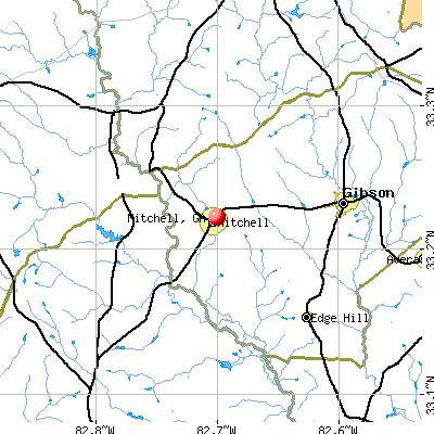 Mitchell, GA map
