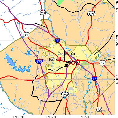 Payne, GA map