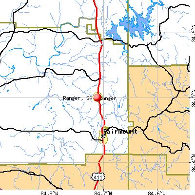 Ranger, GA map