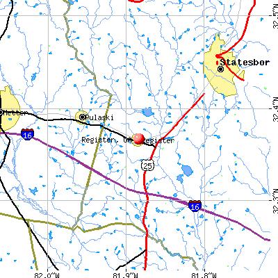 Register, GA map