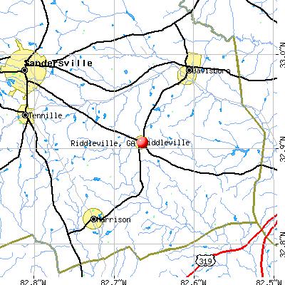 Riddleville, GA map
