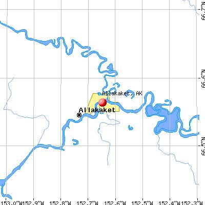 Allakaket, AK map