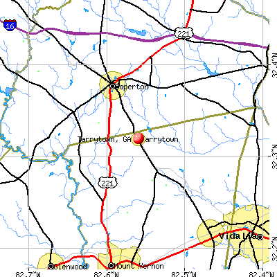 Tarrytown, GA map