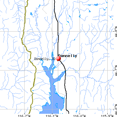 Donnelly, ID map