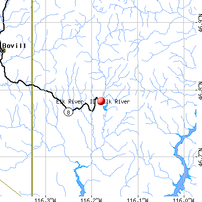 Elk River, ID map