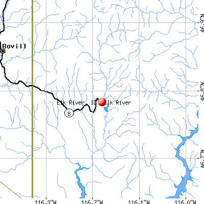 Elk River, ID map