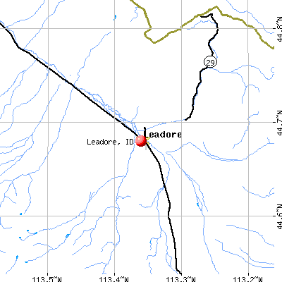 Leadore, ID map