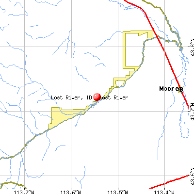 Lost River, ID map