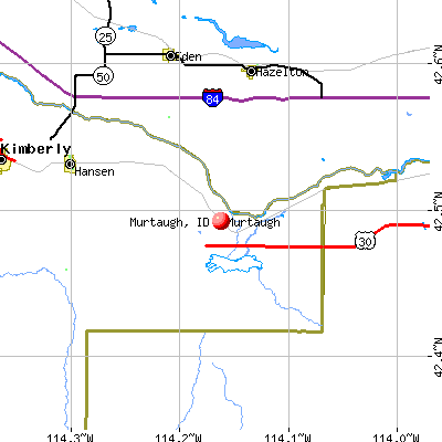 Murtaugh, ID map