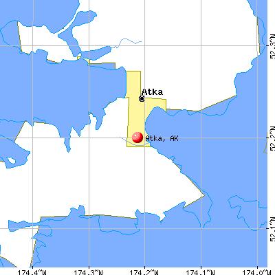 Atka, AK map