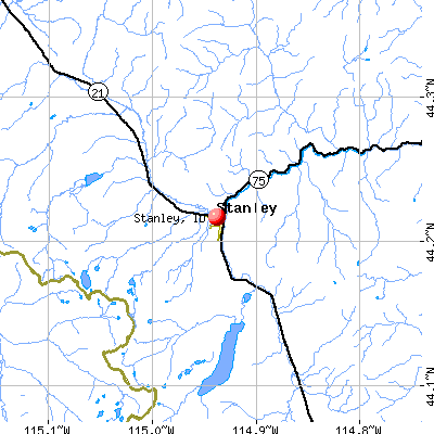 Stanley, ID map