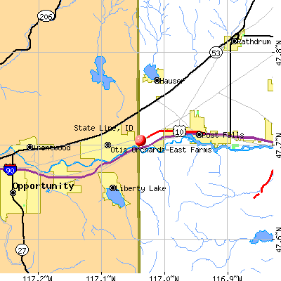 State Line, ID map