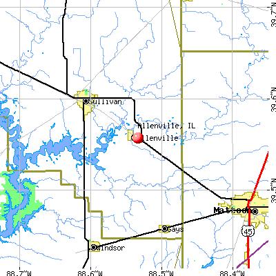 Allenville, IL map