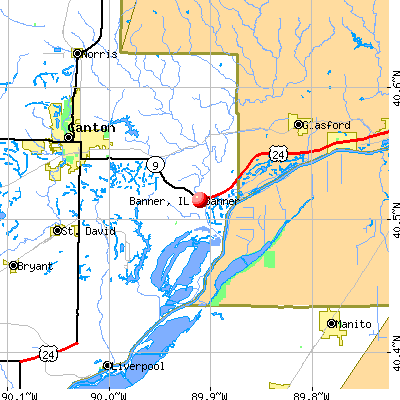 Banner, IL map