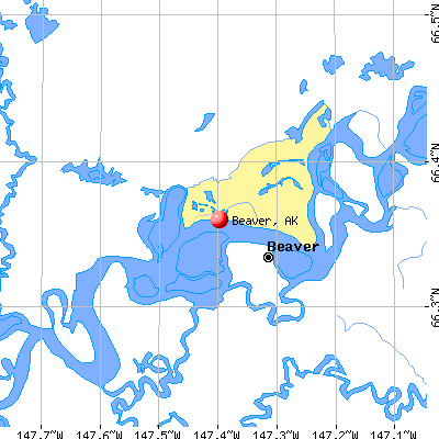 Beaver, AK map