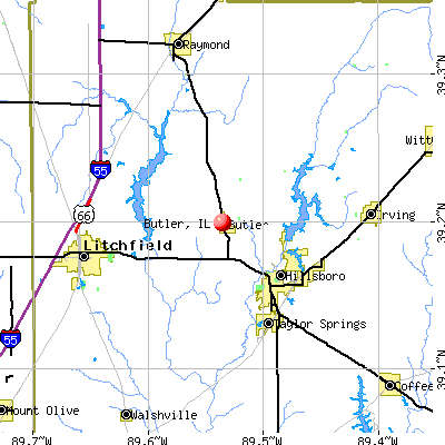 Butler, IL map