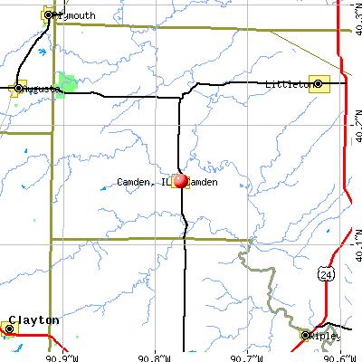 Camden, IL map