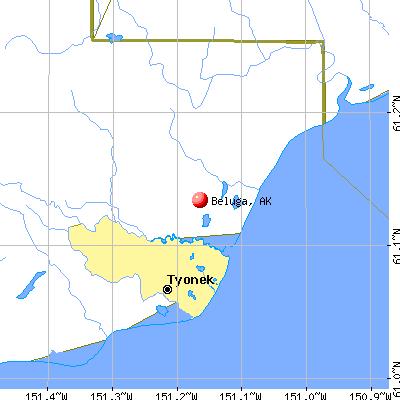 Beluga, AK map