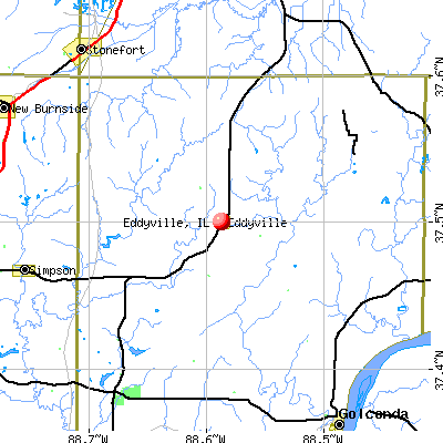Eddyville, IL map
