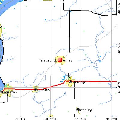 Ferris, IL map