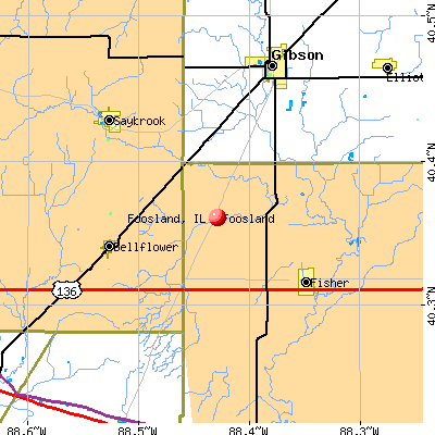 Foosland, IL map