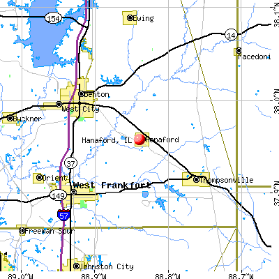 Hanaford, IL map