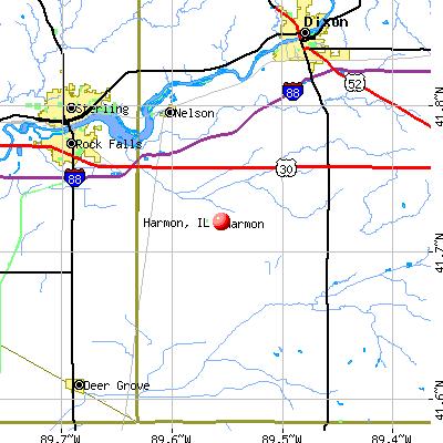 Harmon, IL map