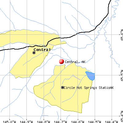 Central, AK map